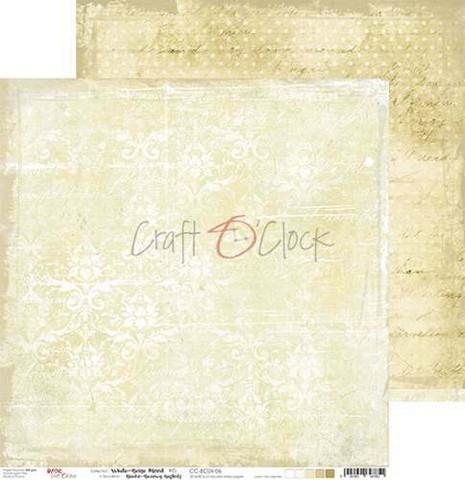 Craft O'clock skräppipaperi White-Beige Mood 06