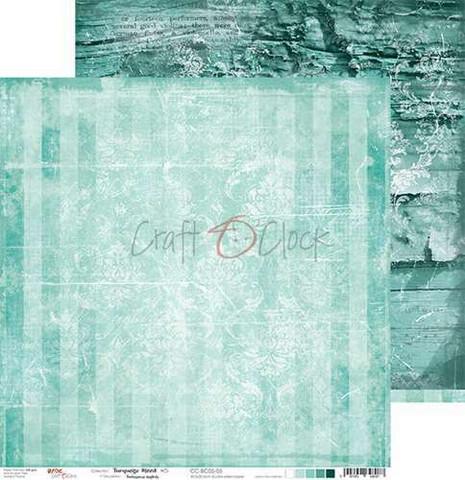 Craft O'clock skräppipaperi Turquoise Mood 05
