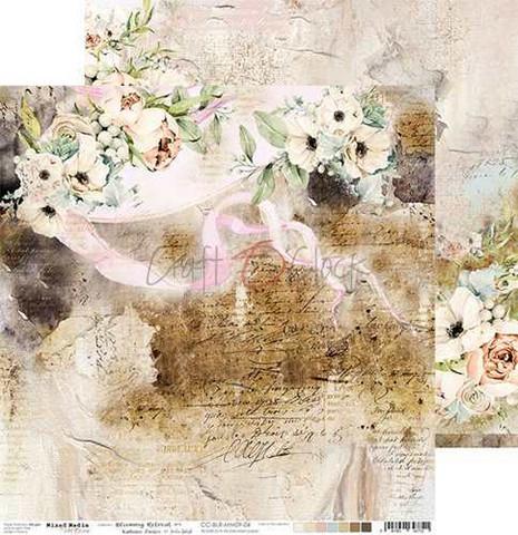 Craft O'clock skräppipaperi Blooming Retreat 04