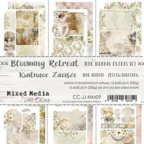 Craft O'clock paperipakkaus Blooming Retreat Junk Journal Extras