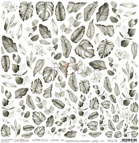 Craft O'clock skräppipaperi Extras To Cut Leaves XV