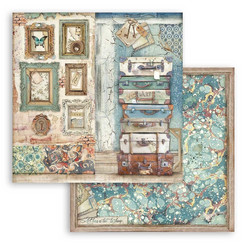 Stamperia Atelier des Arts skräppipaperi Luggage