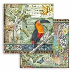 Stamperia Amazonia skräppipaperi Toucan