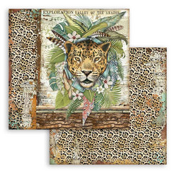 Stamperia Amazonia skräppipaperi Jaguar
