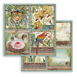 Stamperia Amazonia skräppipaperi Cards