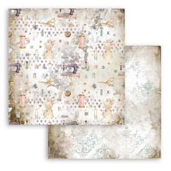 Stamperia Romantic Threads skräppipaperi Scissors