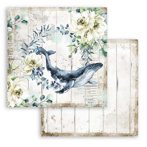 Stamperia Romantic Sea Dream skräppipaperi Whale