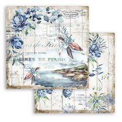 Stamperia Romantic Sea Dream skräppipaperi Turtle