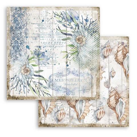 Stamperia Romantic Sea Dream skräppipaperi Shells