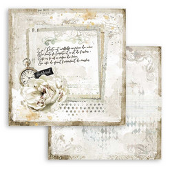 Stamperia Romantic Journal skräppipaperi Letter and Clock