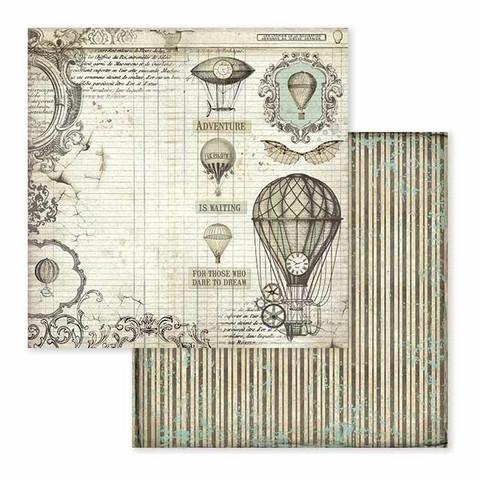 Stamperia Voyages Fantastiques skräppipaperi Air Balloons