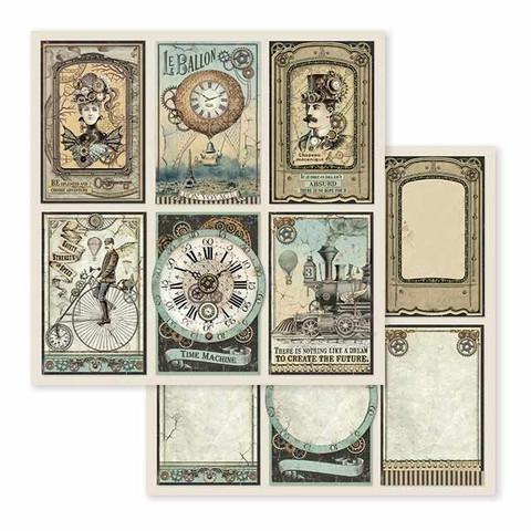 Stamperia Voyages Fantastiques skräppipaperi Gears
