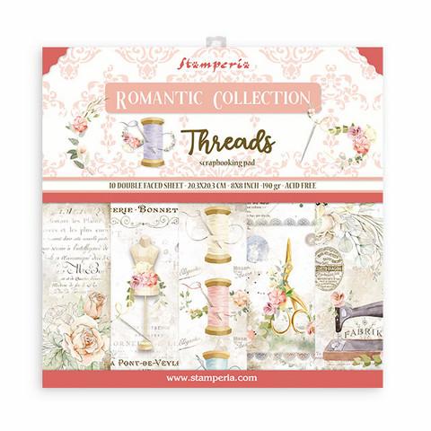 Stamperia paperipakkaus Romantic Threads, 8