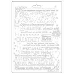 Stamperia Atelier Writings -muotti (tekstuurilevy)
