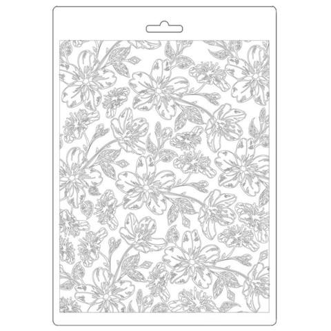 Stamperia Atelier Van Gogh Blossoms -muotti (tekstuurilevy)