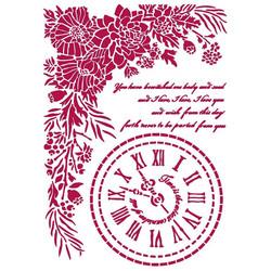 Stamperia sapluuna Romantic Journal clock, A4