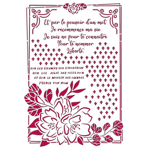 Stamperia sapluuna Romantic Journal Flower With Fame, A4