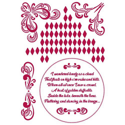 Stamperia sapluuna Romantic Threads Corners, A4
