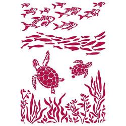 Stamperia sapluuna Romantic Sea Dream Fish And Turtles, A4