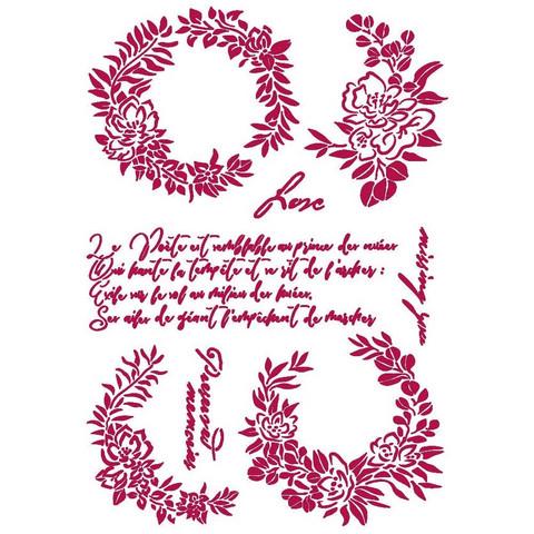 Stamperia sapluuna Romantic Journal Garlands Love, A4