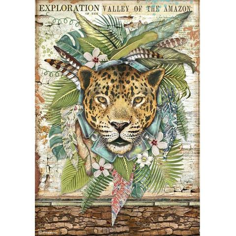 Stamperia riisipaperi Amazonia, Jaguar