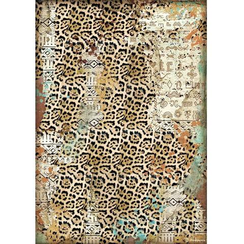 Stamperia riisipaperi Amazonia, Texture