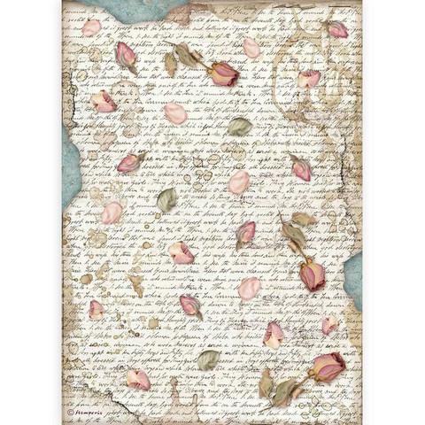 Stamperia riisipaperi Passion, Petals