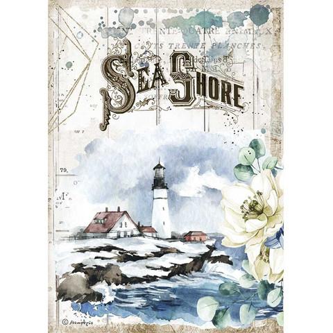 Stamperia riisipaperi Romantic Sea, Dream Sea Shore
