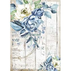 Stamperia riisipaperi Romantic Sea, Blue Flower
