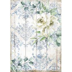 Stamperia riisipaperi Romantic Sea, White Flower