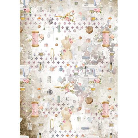 Stamperia riisipaperi Romantic Thread, Embellishment