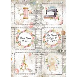 Stamperia riisipaperi Romantic Thread, Mini Cards