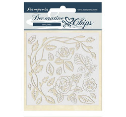 Stamperia Decorative Chips kuvioleikkeet Passion Roses