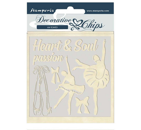 Stamperia Decorative Chips kuvioleikkeet Passion Dancer