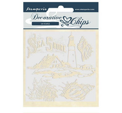 Stamperia Decorative Chips kuvioleikkeet Sea Dream Sea Shore