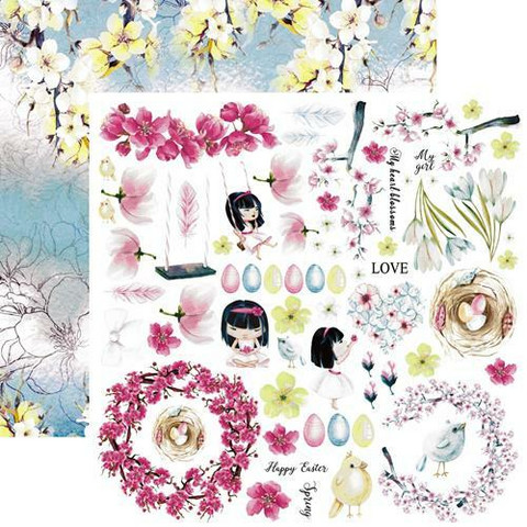 13@rts skräppipaperi Pastel Spring, Happy Time