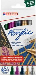 Edding Acrylic Marker -setti Metallic