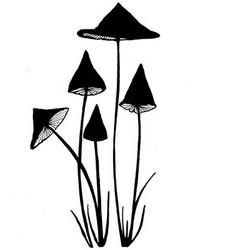 Lavinia Stamps leimasin Slender Mushrooms