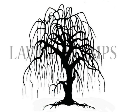 Lavinia Stamps leimasin Weeping Willow Tree