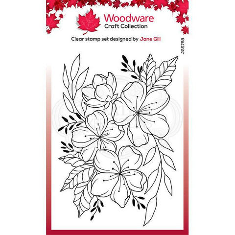Woodware leimasin Floral Wonder