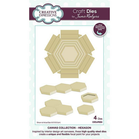 Creative Expressions stanssi Canvas Collection Hexagon
