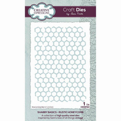 Creative Expressions stanssi Shabby Basics Rustic Honeycomb