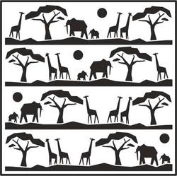Creative Expressions sapluuna Safari Landscape, 7