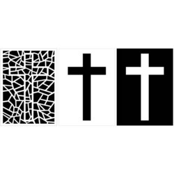 Maker Forte sapluuna- ja maskisetti Stained Glass Cross