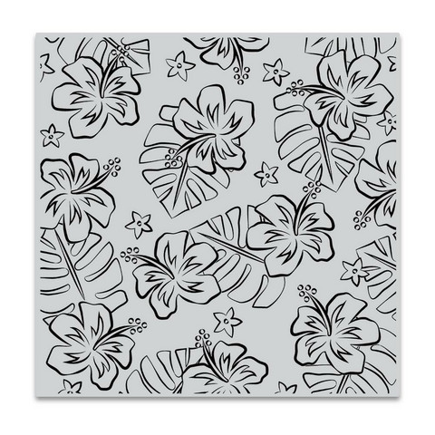 Hero Arts leimasin Hibiscus Flowers Bold Prints