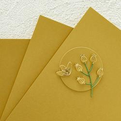 Spellbinders Brush Gold Cardstock -helmiäiskartonki
