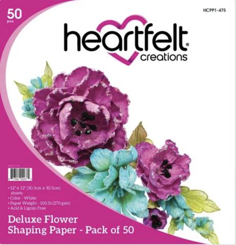 Heartfelt Creations Deluxe Flower Shaping -paperipakkaus, 50 arkkia