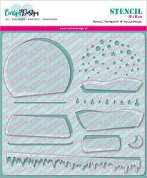 CarlijnDesign sapluuna- ja maskisetti Snowglobe