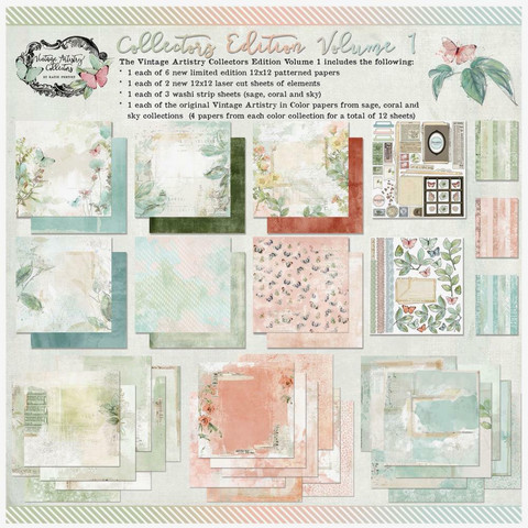 49 and Market paperipakkaus Vintage Artistry In Color Vol. 1, 12
