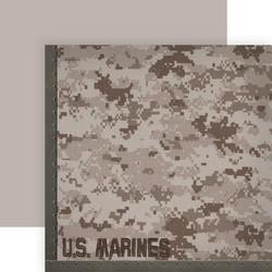 Paper House Marines skräppipaperi Camo